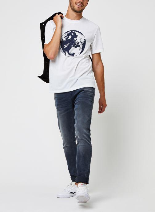 Vêtements Reebok Cl Tee (Ree)Cycle Blanc vue bas / vue portée sac
