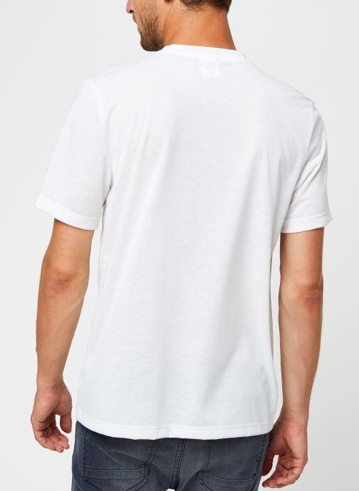 Vêtements Reebok Cl Tee (Ree)Cycle Blanc vue portées chaussures