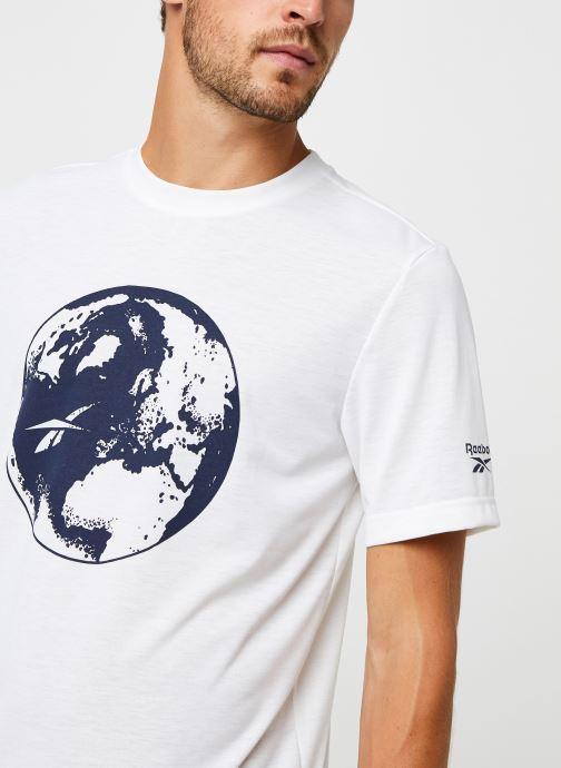 Vêtements Reebok Cl Tee (Ree)Cycle Blanc vue face
