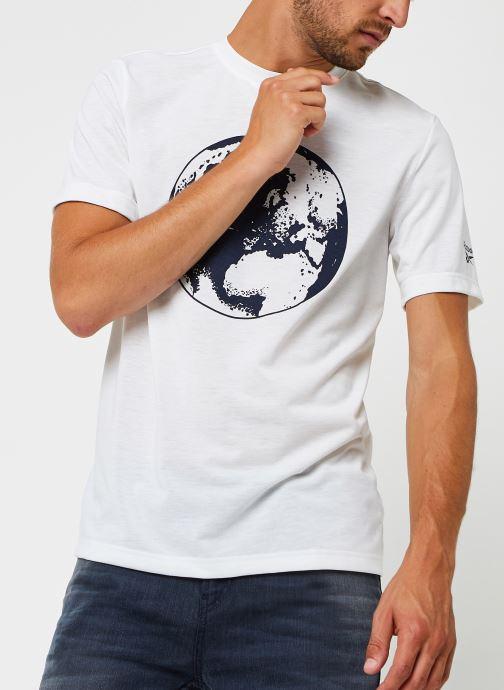 Vêtements Reebok Cl Tee (Ree)Cycle Blanc vue détail/paire