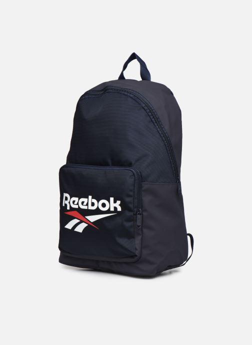 Rucksäcke Reebok Cl Fo Backpack blau schuhe getragen