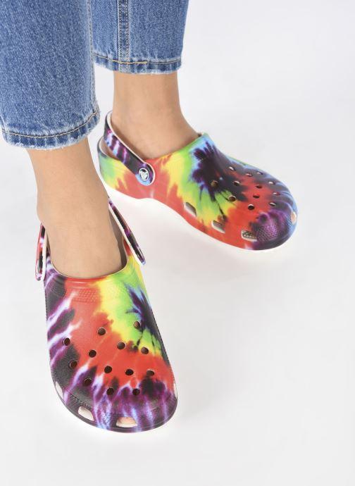 Mules et sabots Crocs Classic Tie Dye Graphic Clog W Multicolore vue bas / vue portée sac