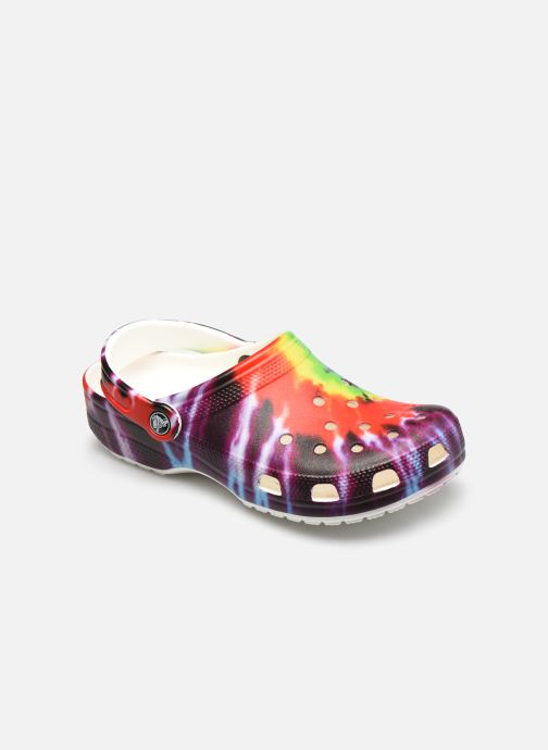 Mules et sabots Crocs Classic Tie Dye Graphic Clog W Multicolore vue détail/paire
