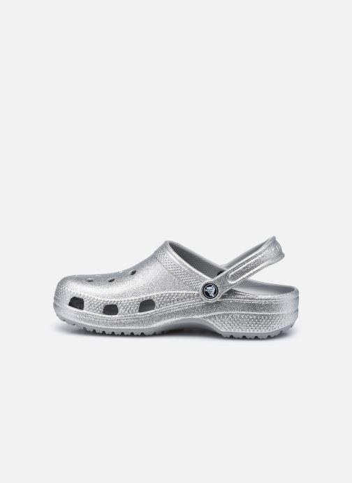 Clogs & Pantoletten Crocs Classic Glitter Clog W grau ansicht von vorne