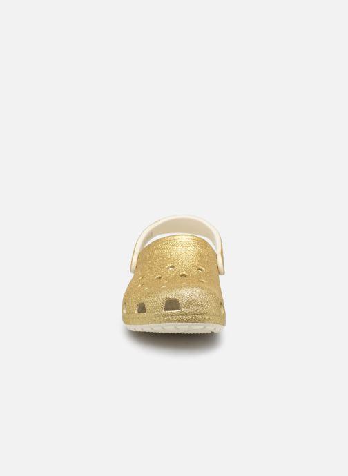 Mules et sabots Crocs Classic Glitter Clog W Or et bronze vue portées chaussures