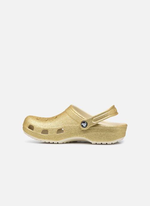 Mules et sabots Crocs Classic Glitter Clog W Or et bronze vue face
