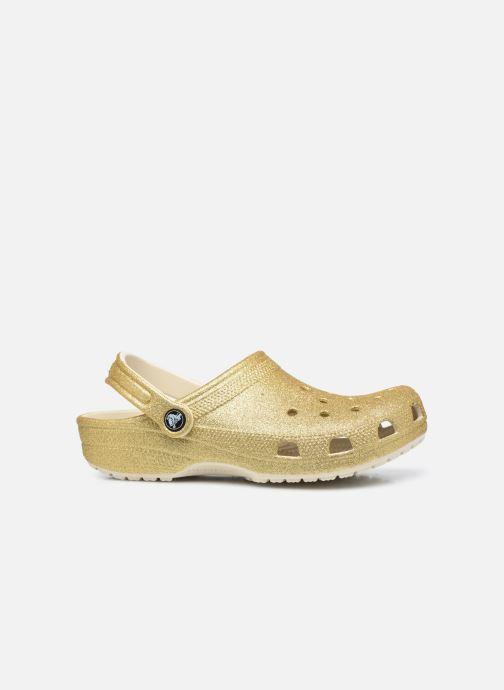 Mules et sabots Crocs Classic Glitter Clog W Or et bronze vue derrière