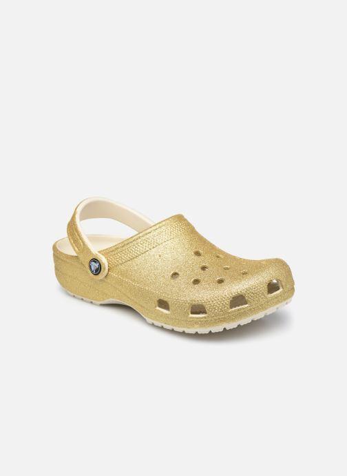 Mules et sabots Crocs Classic Glitter Clog W Or et bronze vue détail/paire