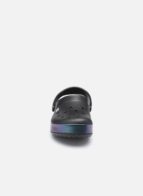 Mules et sabots Crocs Crocband Iridescent Band Clog W Noir vue portées chaussures