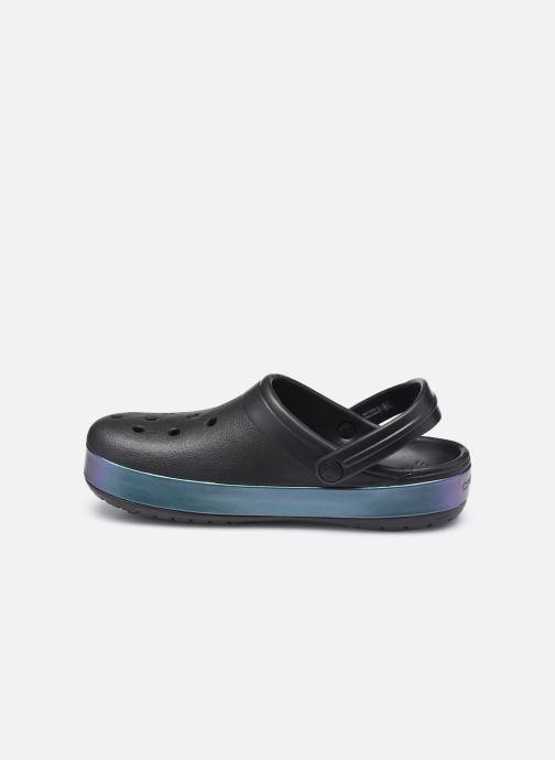 Clogs & Pantoletten Crocs Crocband Iridescent Band Clog W schwarz ansicht von vorne