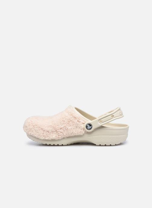 Zoccoli Crocs Classic Fuzz Mania Clog Bianco immagine frontale