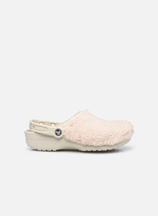 Wedges Crocs Classic Fuzz Mania Clog Wit achterkant