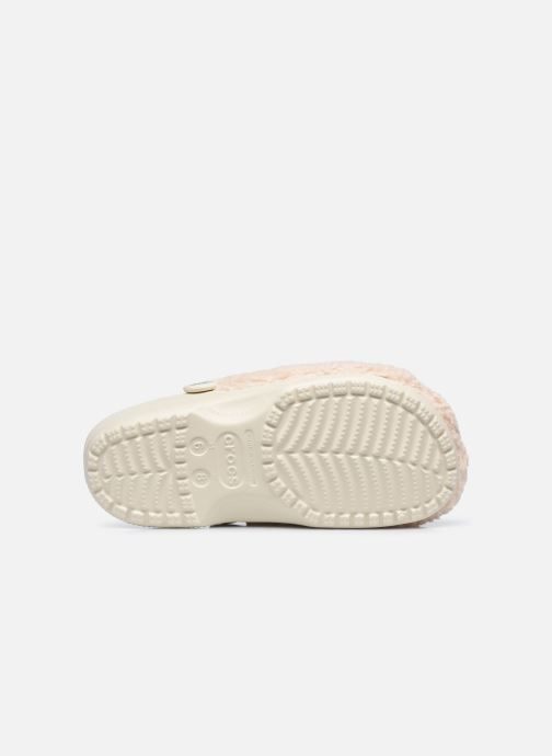 Zoccoli Crocs Classic Fuzz Mania Clog Bianco immagine dall'alto