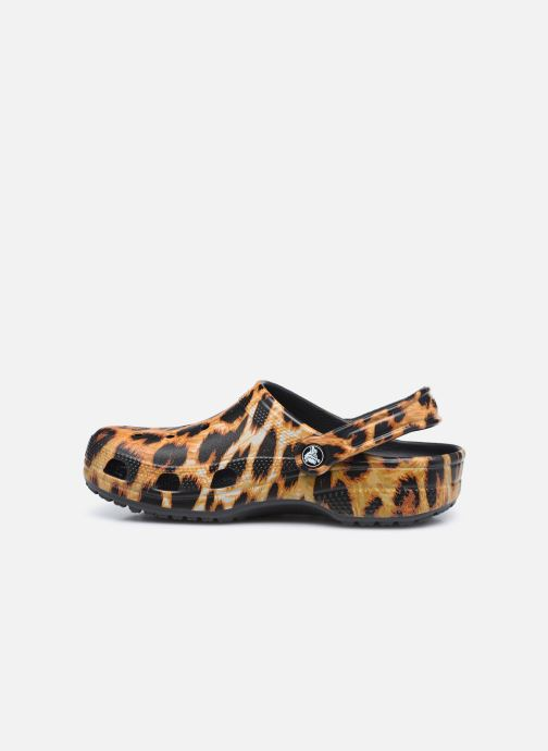 Zuecos Crocs Classic Animal Print Clog W Marrón vista de frente