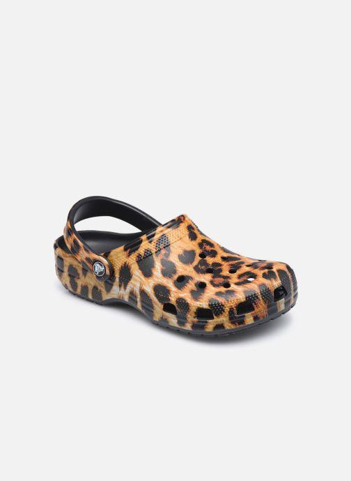 Mules et sabots Crocs Classic Animal Print Clog W Marron vue détail/paire