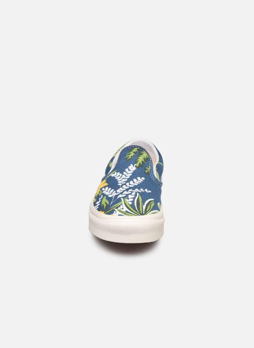 Sneaker Vans Classic Slip-On 9 blau schuhe getragen
