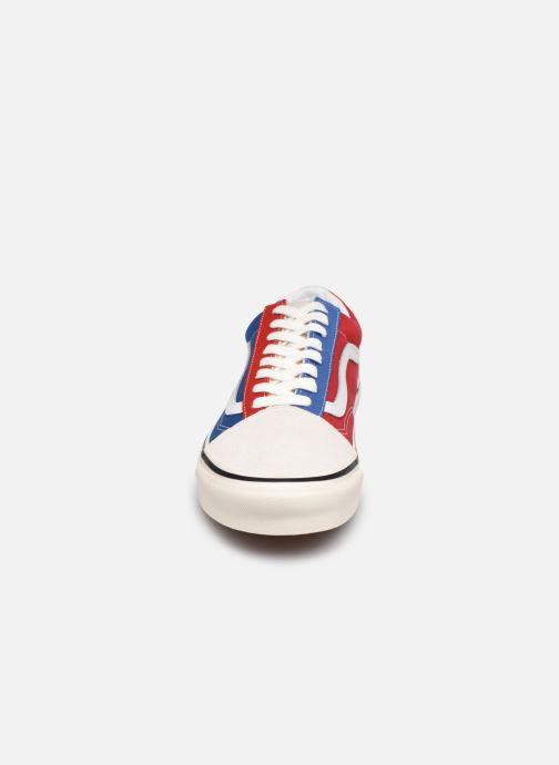 Sneaker Vans UA Old Skool 36 DX blau schuhe getragen