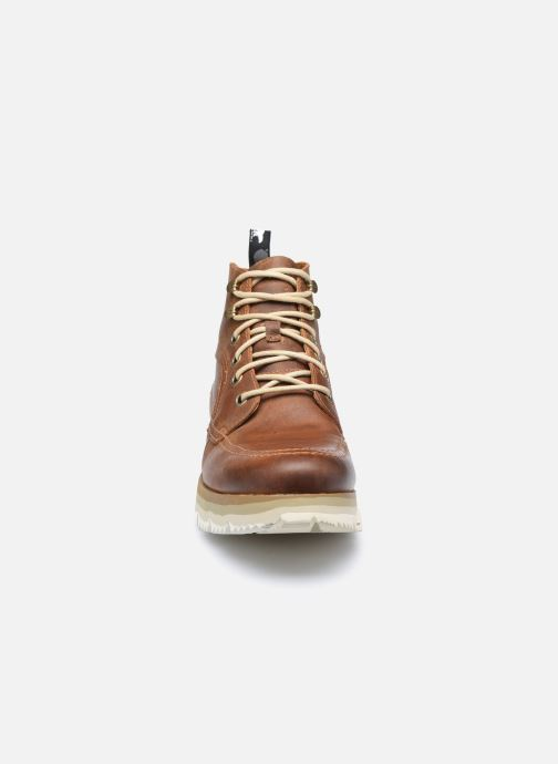 Stiefeletten & Boots Sorel Atlis Chukka WP braun schuhe getragen