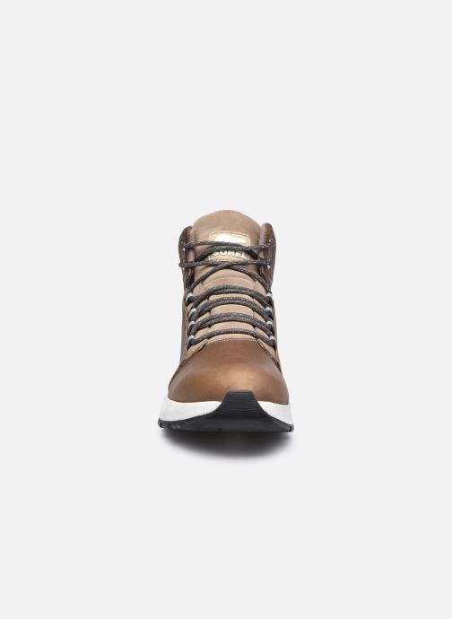 Stiefeletten & Boots Sorel Mac Hill Mid Ltr WP grün schuhe getragen