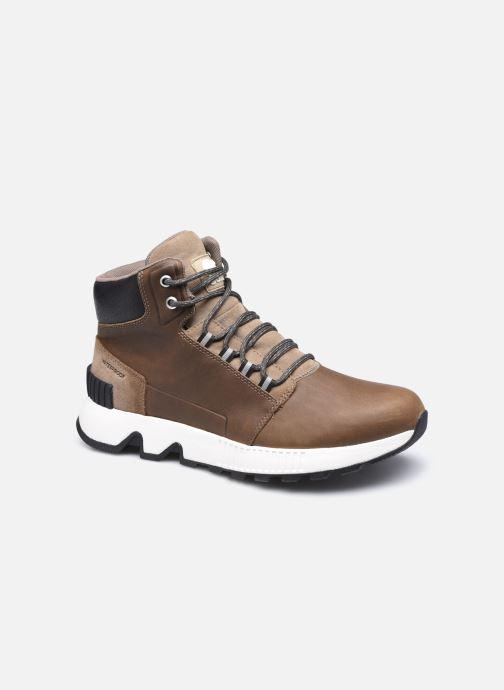 Bottines et boots Sorel Mac Hill Mid Ltr WP Vert vue détail/paire