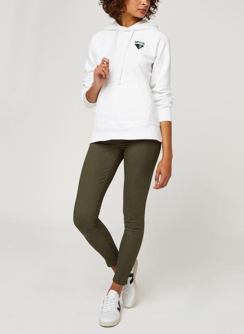 Vêtements Levi's 722 High Rise Skinny W Vert vue bas / vue portée sac