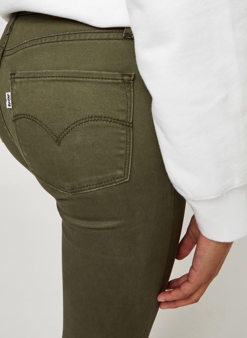 Vêtements Levi's 722 High Rise Skinny W Vert vue face
