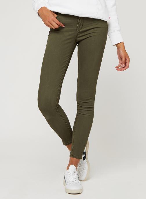 Vêtements Levi's 722 High Rise Skinny W Vert vue détail/paire