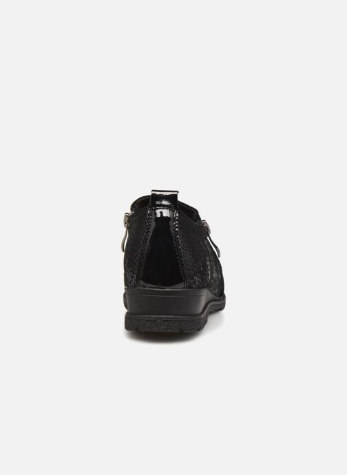 Zapatos con cordones Damart Mélanie Negro vista lateral derecha
