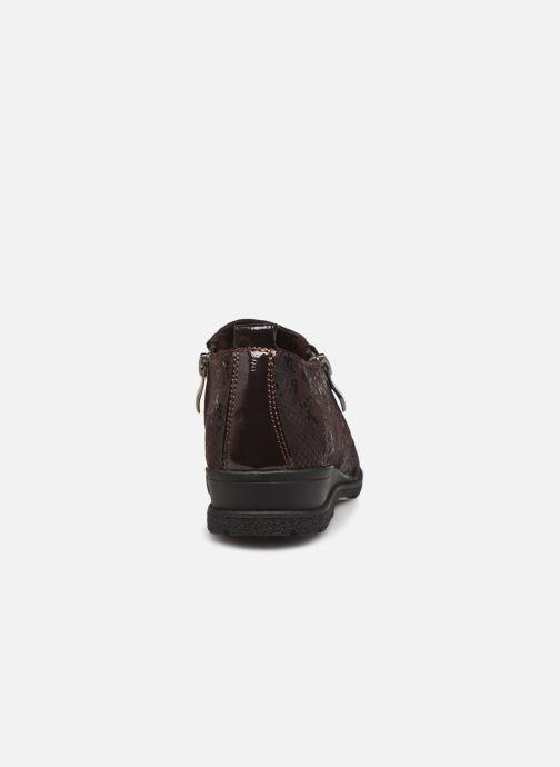 Zapatos con cordones Damart Mélanie Marrón vista lateral derecha