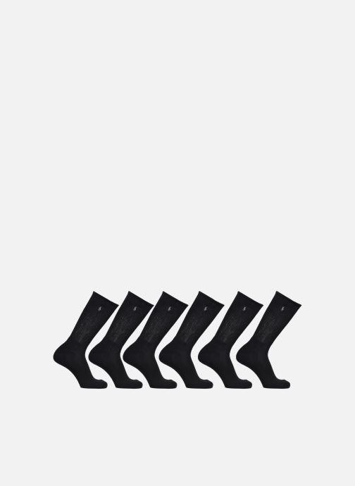 Chaussettes et collants Polo Ralph Lauren Crew Socks 6 Pack Noir vue détail/paire