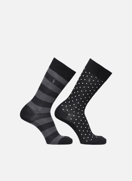 Socken & Strumpfhosen Polo Ralph Lauren Dot Crew 2 Pack schwarz detaillierte ansicht/modell