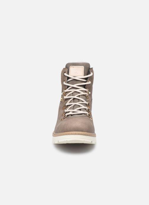 Bottines et boots Kimberfeel Milena Marron vue portées chaussures