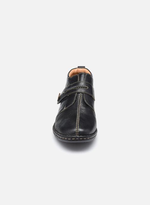 Zapatos con velcro Pédiconfort Mathilde / Tannage Vegetal Negro vista del modelo