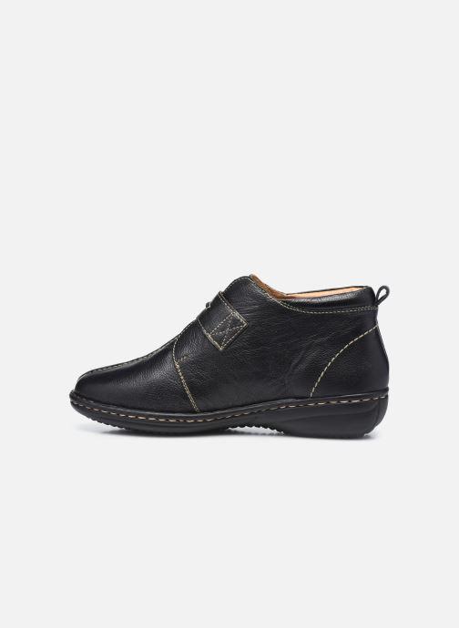 Zapatos con velcro Pédiconfort Mathilde / Tannage Vegetal Negro vista de frente