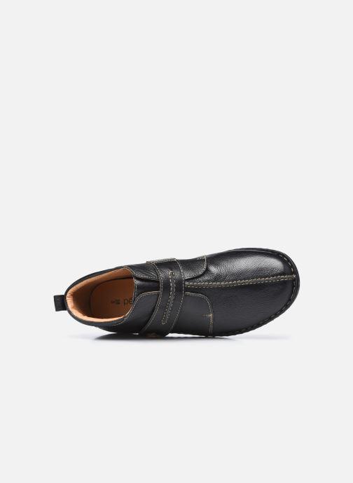 Zapatos con velcro Pédiconfort Mathilde / Tannage Vegetal Negro vista lateral izquierda