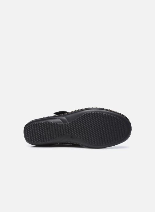 Zapatos con velcro Pédiconfort Mathilde / Tannage Vegetal Negro vista de arriba