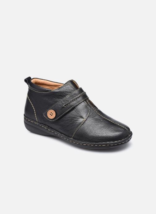 Zapatos con velcro Pédiconfort Mathilde / Tannage Vegetal Negro vista de detalle / par