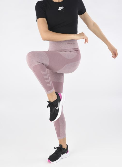 Chaussures de sport Nike Wmns Nike Downshifter 10 Noir vue bas / vue portée sac