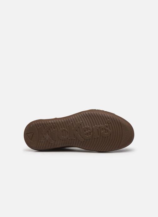 Sneaker Kickers JUNGLEHIGH braun ansicht von oben