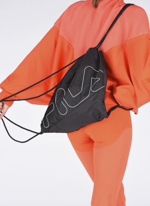 Sacs de sport FILA Gym Sack Double Mesh Noir vue bas / vue portée sac