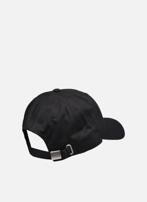 Kappe FILA Panel Cap Outline Logo schwarz schuhe getragen