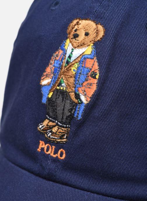 Casquettes Polo Ralph Lauren Chapeau Bob Pony Sport Bleu vue face
