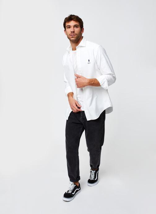 Vêtements Polo Ralph Lauren Chemise ML Pony Sport Blanc vue bas / vue portée sac