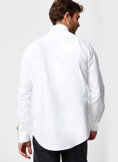 Vêtements Polo Ralph Lauren Chemise ML Pony Sport Blanc vue portées chaussures