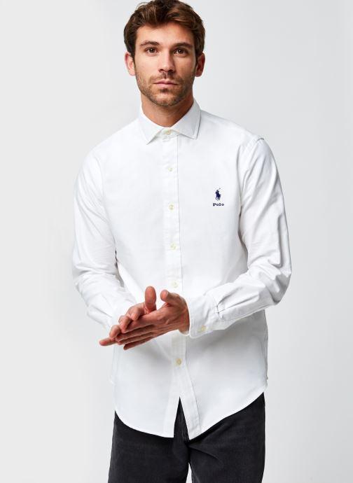 Vêtements Polo Ralph Lauren Chemise ML Pony Sport Blanc vue droite