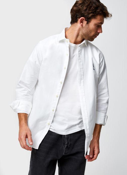 Vêtements Polo Ralph Lauren Chemise ML Pony Sport Blanc vue détail/paire