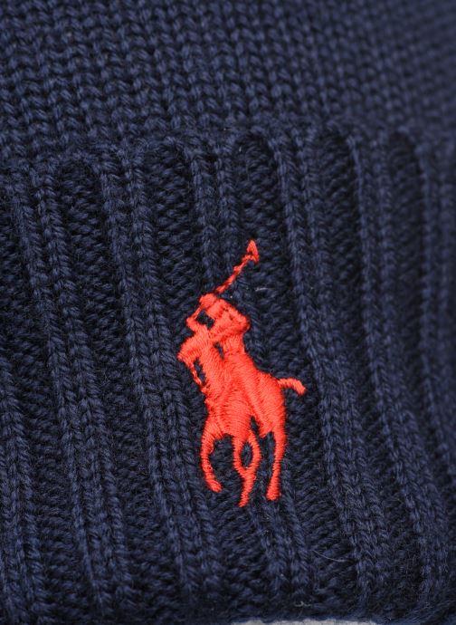 Bonnets Polo Ralph Lauren Bonnet Pony Bleu vue face