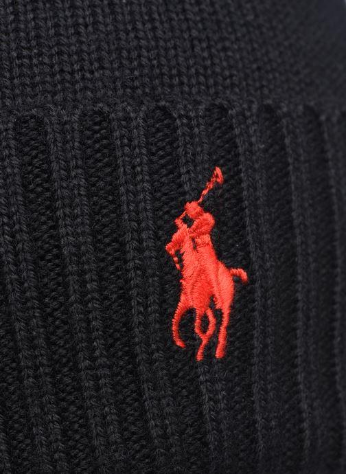 Mütze Polo Ralph Lauren Bonnet Pony schwarz ansicht von vorne