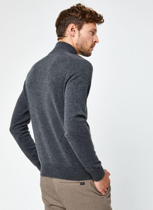 Vêtements Polo Ralph Lauren Pull ML Sweater Pony 2 Gris vue portées chaussures