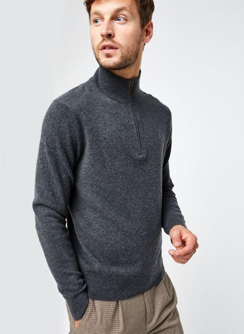 Vêtements Polo Ralph Lauren Pull ML Sweater Pony 2 Gris vue droite